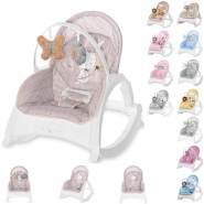 Lorelli Babywippe und Stuhl ENJOY mit Vibration, Musik, verstellbare Rückenlehne beige/braun