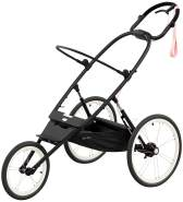 Cybex 'Avi' All Terrain Jogger-Buggy Rahmengestell 2021 Black with Pink Details (ohne Sitz)