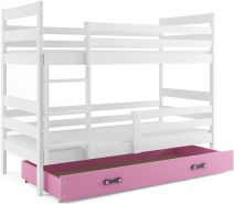 Interbeds 'Eryk' Etagenbett weiß/rosa 80x160cm