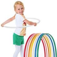 hoopomania® Kinder Hula Hoop Reifen, Durchmesser 65cm in Weiss