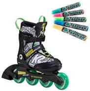 K2 'Raider Splash' Inline-Skates, für Kinder, inkl. 5 Splash-Stifte zum Bemalbarn, Größe 32 - 37 (M)
