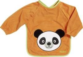Playshoes 507136 Ärmel-Lätzchen lang Arm, Bär, Orange, Einheitsgröße