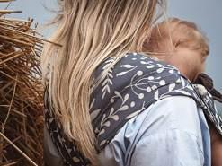 LIMAS Babytrage Halfbuckle | 50 -86 cm | Bauchtrage & Rückentrage & Hüfttrage | ab Geburt bis Kleinkindalter | Baby Carrier | Flora Cool Grey