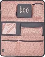 LÄSSIG Autoorganizer Mädchen Autorücksitzorganizer Rücksitztasche für Auto oder Kinderzimmer zum Hängen zusammenklappbar / Car-Wrap-to-Go, Spooky Peach, 55 cm