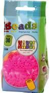 Nabbi Schmelzperlen aus Kunststoff, Plastik, Bright Pink Transparent, 1100-Piece
