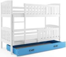Interbeds 'QUBA' Etagenbett weiß/blau 80x190cm