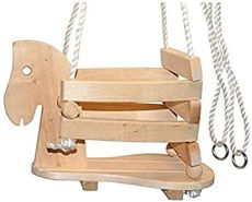 Kinderschaukel aus Holz Pony