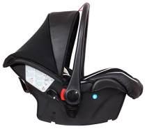 Zekiwa 801/850, Autositzschale Comfort, mit superweichem atmungsaktiven Sitzpolster, inklusive Verdeck und Schutzdecke und Regenhülle und Insektenschutz, Des.: Schwarz/Beige