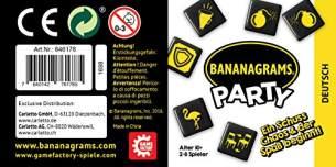 Game Factory 646178 Bananagrams Party, Wortlege-Spiel für 2 bis 8 Personen