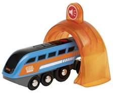 BRIO Eisenbahn Smart Tech Sound Zug Mit Action Tunnel, Brio World Eisenbahn Zubehör, Holzeisenbahn