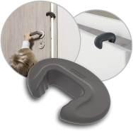 reer Tür-Stopper DesignLine, 2 Stück, Finger-Klemm-Schutz für Türen, dezentes Design, vom schwäbischen Kinder-Sicherheits-Experten, anthrazit