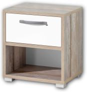 Lomadox 'MAUI-78' Nachtkommode, Driftwood/Weiß