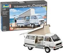 Revell Modellbausatz Auto 1:25 - Volkswagen VW T3 Bulli Camper im Maßstab 1:25, Level 3, originalgetreue Nachbildung mit vielen Details, VW Bus, 07344