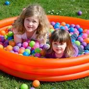 6000 bunte Bälle für Bällebad 5,5cm Babybälle Plastikbälle Baby Spielbälle Pastell