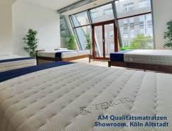 AM Qualitätsmatratzen 1000 Federn 7-Zonen Taschenfederkernmatratze 180 x 200 cm - 24 cm Premiumhöhe - 1.000 Federn Matratze 180x200cm - H3