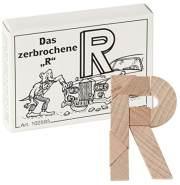 Bartl 102593 Mini-Holz-Puzzle Das zerbrochene R aus 8 kleinen Holzteilen