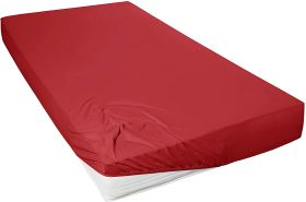 Primera Mako-Feinjersey Jersey-Spannbetttuch, rot, 140x200-160x200 cm
