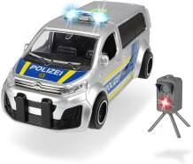 Dickie Toys 203713010 Citroen Space Tourer, Polizeiauto, Radarfalle, Radarkontrolle, Polizeikontrolle Spielzeug, Polizeibus, 1:32, Silber/blau