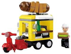 Sluban Spielzeug Baustein Set Hot Dog Wagen M38-B0565