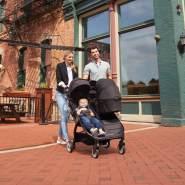 Baby Jogger City Tour2 Kompaktwanne für Zwillingswagen, Einzelne Babywanne, Jet (Schwarz)
