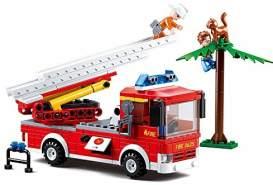 Sluban Building Blocks Fire Serie Ladder Truck [M38-B0625]