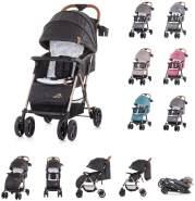 Chipolino Kinderwagen April, bis 22 kg, klappbar, Vorderräder gefedert schwarz