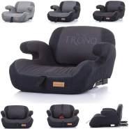 Chipolino Kindersitz Sitzerhöhung Trono Isofix Rückenlehne Gruppe 3 (22-36 kg) schwarz