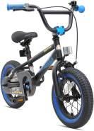 Bikestar Kinderfahrrad 12 Zoll BMX Schwarz & Blau