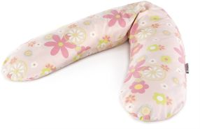 Ersatzbezug für Das Original THERALINE Schwangerschafts- & Stillkissen 100% Baumwolle  Retroblume rosa
