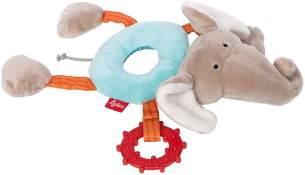 sigikid, Mädchen und Jungen, Ringgreifling Elefant, Babyspielzeug, empfohlen ab 3 Monaten, blau/grau, 42420