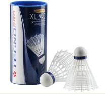 TECNOPRO Badminton-Ball XL 400 3er Dose Badmintonbälle, Weiß, M
