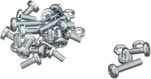 Eitech 00108 00108-Ergänzungs Metallbauteile-Schrauben mit Muttern, Multi Color