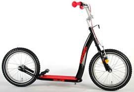 Kubbinga 'Thombike' Tretroller, ab 7 Jahren, bis 60 kg belastbar, höhenverstellbar, schwarz-rot