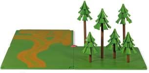 SIKU 5699 - Feldwege und Wald, Kunststoff, Ideal für den Farmbereich, grün