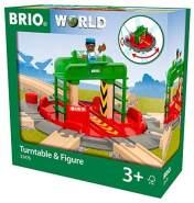 BRIO Bahn 33476 - Lok-Drehscheibe mit Kontrollbrücke