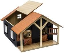 Idena Farm Pferdestall 1:24 2 Boxen 51 x 40 cm Holz natur