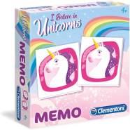 Clementoni 18031 Unicorni Memo Game-Einhörner, Mehrfarben
