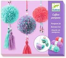 Djeco – Pompom-Set für Kinder zwischen 7 und 13, Mehrfarbig (DJ09835)