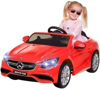 Kinder Elektro Mercedes Benz AMG S63 Kinderauto Kinderfahrzeug Elektroauto (Rot)