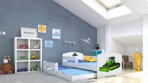 Angelbeds 'Luk' Kinderbett 80x160 cm, Motiv 24, inkl. Flex-Lattenrost, Schaummatratze und Schubbett