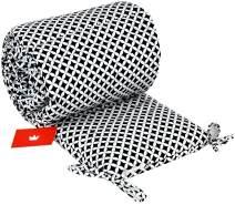 BABYLUX NESTCHEN 210 x 30 cm Nest Bettumrandung mit Kopfschutz (107. Marokko Schwarz)