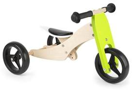 Small Foot Tricycle Trike 2-in-1 loopfiets 10 Zoll Junior Grün