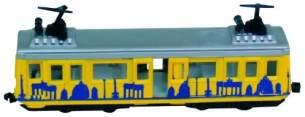 Idena 4259526 - Modell Berliner Straßenbahn, mit Rückzugmotor, ca. 13,5 x 19 x 5 cm, als Spielzeug, typisches Souvenir oder beliebtes Sammlerstück