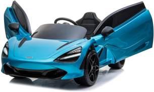 ES-Toys Kinder Elektroauto McLaren 720S, lackiert, Mp3, Ledersitz, EVA-Reifen blau