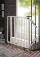 Geuther Treppenschutzgitter, für Türbreiten 95 - 135 cm, zum Bohren, Holz, Weiß