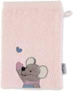 Sterntaler Waschhandschuh Maus Mabel, Größe: 21 x 15 cm, Zartrosa