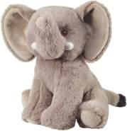 Bauer Spielwaren I Like My Planet - Elefant: Kuscheltier aus softem Plüsch, hergestellt aus recycelten PET-Flaschen, 100 % recycelt, sitzend, 20 cm, grau (12923)