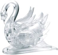 HCM Kinzel GmbH 103004 3004-Crystal Puzzle transpa, Schwan-Kristall