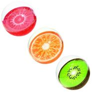 Bestway 31042-19 Wasserball Sommerfrucht, Sortiert (Erdbeere, Kiwi, Orange), Multicolor, 46 cm