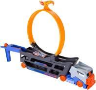 Hot Wheels GCK38 - Stunt N Go Transporter und Trackset, Spielzeug ab 4 Jahren